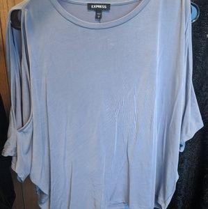 Express batwing cold shoulder blouse S